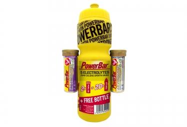 POWERBAR Pack Tablets 5 ELECTROLYTES 10 tabs Black Currant + 10 tabs Lemon Boost + 1 Bottle