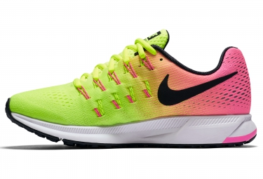 NIKE AIR ZOOM PEGASUS 33 UNLIMITED COLOURWAY Jaune Rose Femme