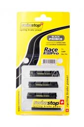 x4 Cartouches de Patins de Freins Swisstop RACE PRO Black Prince Pour jantes Carbone et Campagnolo