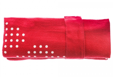 Serviette micro fibre arena halo rouge