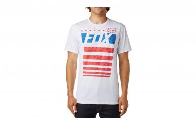 T-Shirt FOX RED WHITE AND TRUE Blanc