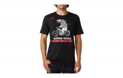 T-Shirt FOX BEAR REPUBLIC Noir