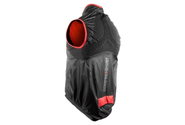veste coupe vent compressport cycling hurricane noir red xl