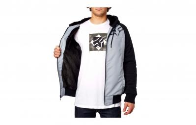 veste a capuche fox dispatched sasquatch noir gris xl