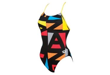 maillot de bain femme arena odense booster noir multi couleur 34