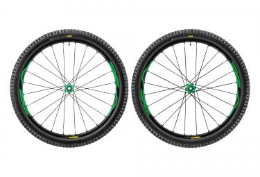 paire de roues vtt mavic xa elite 29 vert boost 15x110 12x148mm sram xd quest pro 2 35