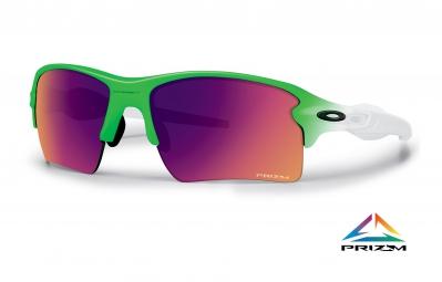 lunettes oakley flak 2 0 xl prizm field green fade edition blanc vert ref oo9188 43