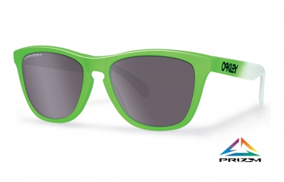 Lunettes OAKLEY FROGSKINS Prizm Daily Polarized Edition Olympique Blanc/Vert Réf OO9013-99