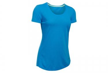 maillot manches courtes femme under armour streaker bleu xs