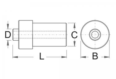 Adaptateur Axe de Roue UNIOR 20mm vers 10mm