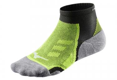 paire de chaussettes mizuno drylite trail noir vert 35 37