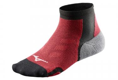 paire de chaussettes mizuno drylite race noir rouge 38 40