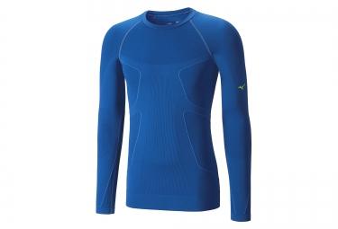 maillot de compression manches longues mizuno biogear wave bleu m