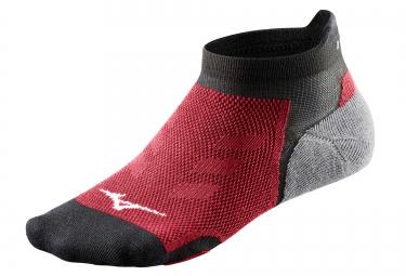 paire de chaussettes basses mizuno drylite race noir rouge 38 40