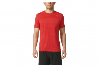 Maillot manches courtes adidas supernova rouge s