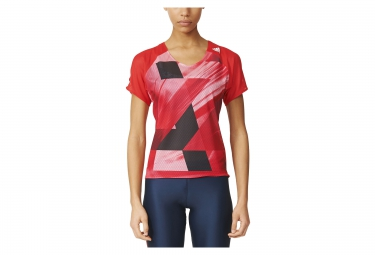 maillot manches courtes femme adidas running adizero rouge xs