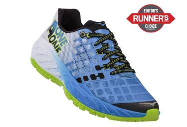 Chaussures de Running Hoka CLAYTON  Bleu / Vert