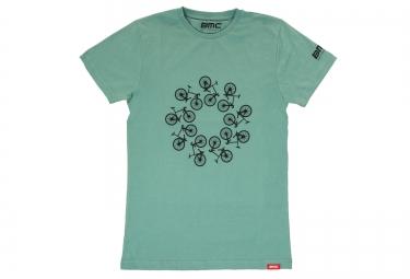 t shirt manches courtes bmc lifestyle bleu xs