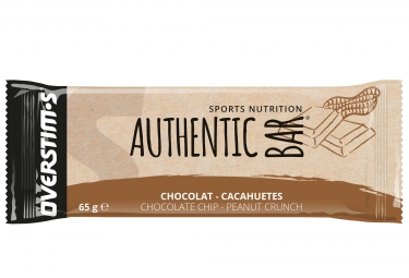 OVERSTIMS Energy Bar AUTHENTISCHE BAR Erdnüsse Schokolade 65g