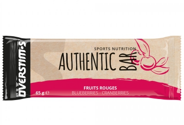 barre energetique overstims authentic bar fruits rouges 65g