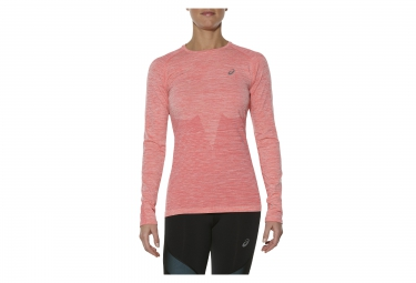 Maillot manches longues femme asics seamless rose l