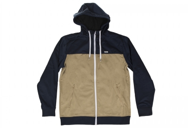 Sweat a capuche vans liston kaki bleu l