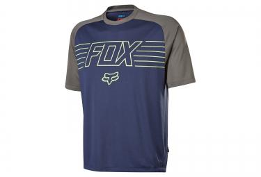 maillot manches courtes fox ranger bleu gris s