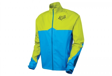 veste coupe vent impermeable fox downpour light bleu jaune m