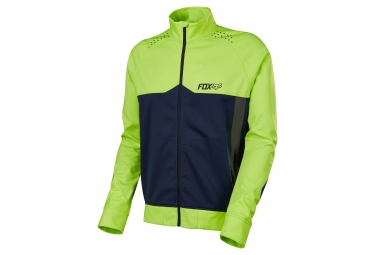 veste coupe vent deperlant fox bionic light jaune bleu s