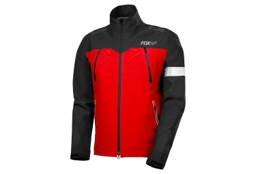 veste coupe vent impermeable fox downpour pro rouge noir s