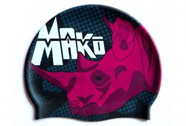 Bonnet de Bain MAKO PINK RHINO Noir Rose