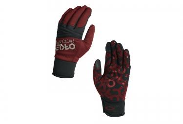 gants oakley factory park rouge noir m