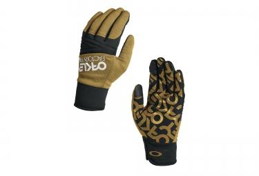 gants oakley factory park jaune noir m