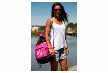 sac de piscine mako mesh bag rose