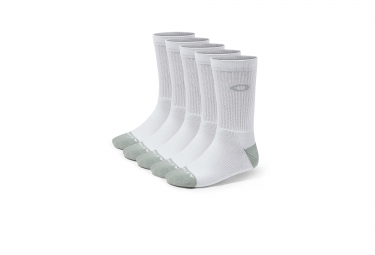 chaussettes oakley performance basic crew 5 paires blanc 42 46