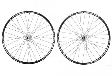 msc paire de roues 29 transformer disc av 15mm ar 12x135mm qr noir blanc