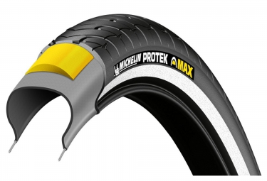 pneu urbain michelin protek max 700mm tubetype tringle rigide renfort anti crevaison