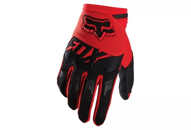 gants longs enfants fox dirtpaw rouge noir kid m