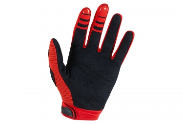 gants longs enfants fox dirtpaw rouge noir kid l