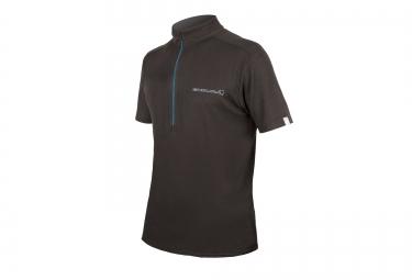 maillot manches courtes endura single track merino noir s