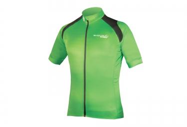 maillot manches courtes endura hyperon vert haute visibilite l