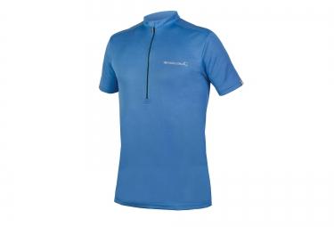 maillot manches courtes endura single track merino bleu s