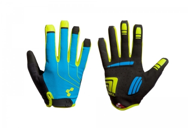 Gants Longs CUBE Natural Fit Bleu Jaune Noir
