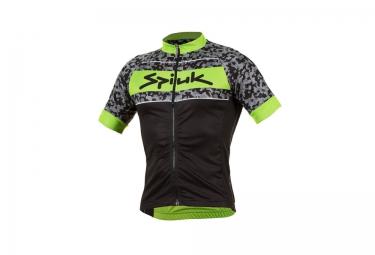 Maillot manches courtes spiuk mid season noir vert camo xl