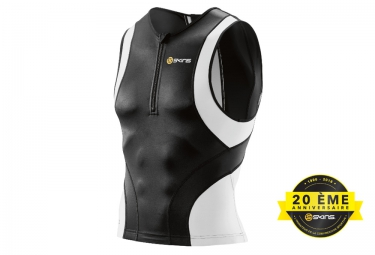 Maillot de triathlon skins tri400 homme noir blanc xl