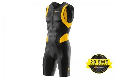combinaison tri fonction skins tri400 zip avant homme noir jaune l