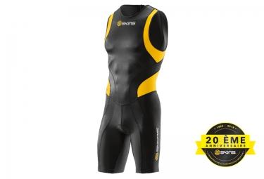 combinaison tri fonction skins tri400 zip arriere homme noir jaune xl