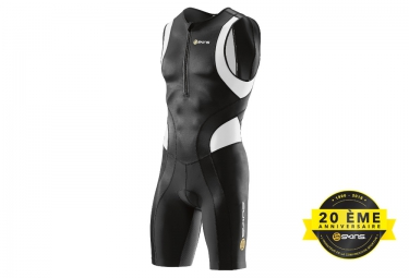 SKINS Tri Fonction Suit SKINSUIT TRI 400 Front Zipper Mens Black White