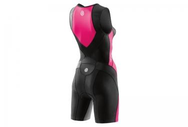 combinaison tri fonction skins tri400 zip avant femme noir rose xs