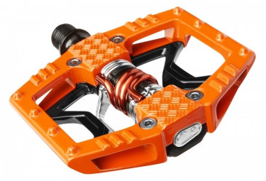 CRANKBROTHERS Paire de Pédales DOUBLE SHOT 2 Orange Noir